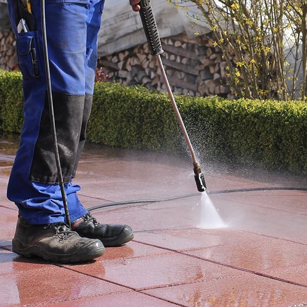 How to pressure wash a patio