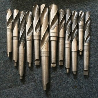 Assorted Used Imperial Metric Taper Shank Drills