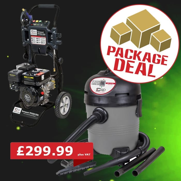 SIP Tempest TP550-206 Petrol Pressure Washer Package