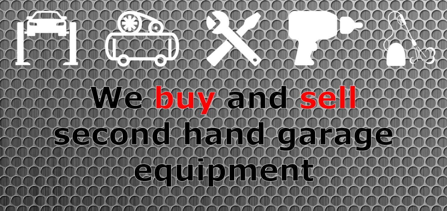 We buy and sell second hand garage equipment