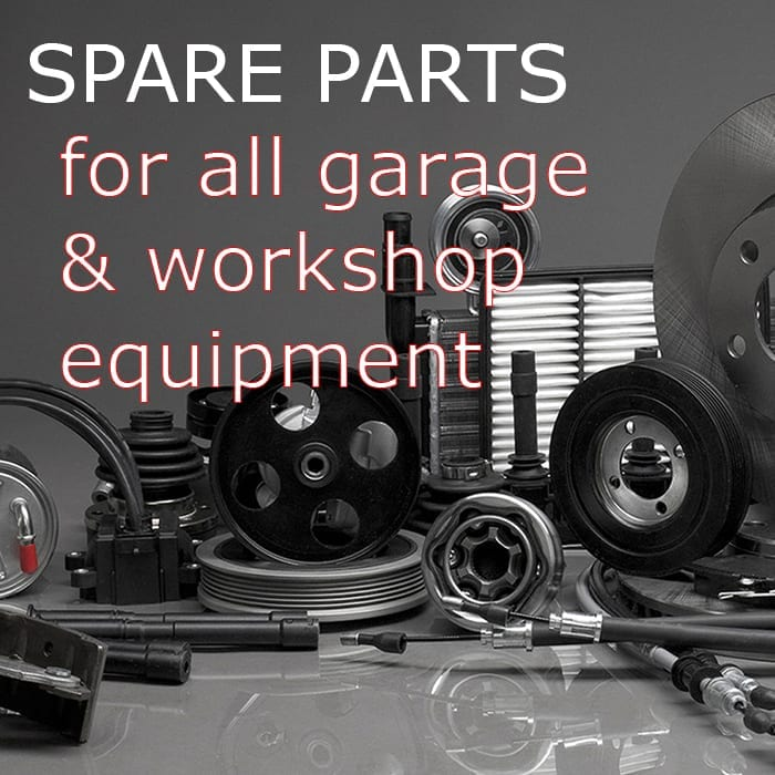 Spare parts for garage and workshop equipment