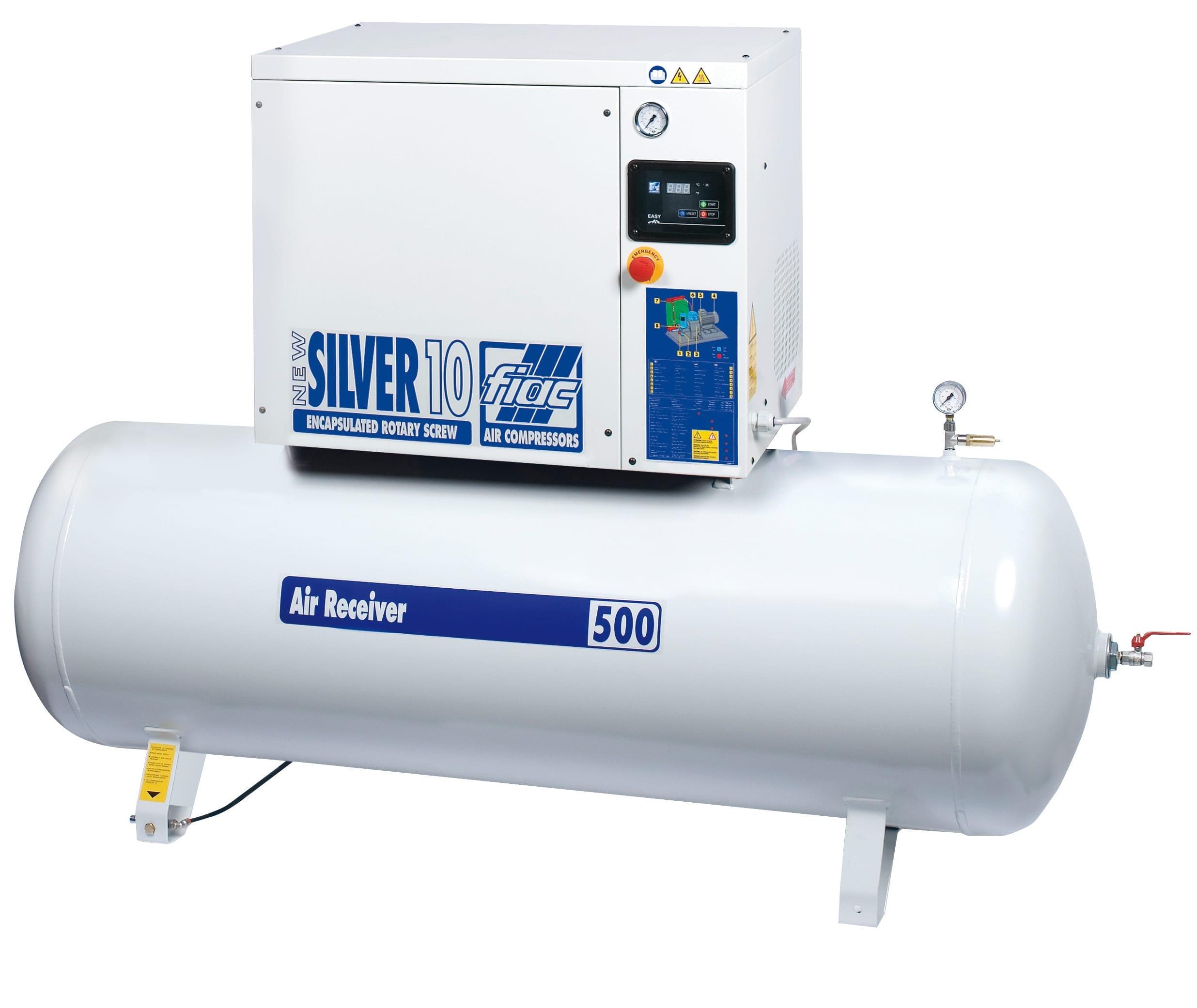 Fiac Silver Rotary Screw 25 500 Air Compressor