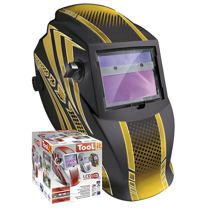 GYS LCD Hermes 9 13 G Gold Welding Helmet