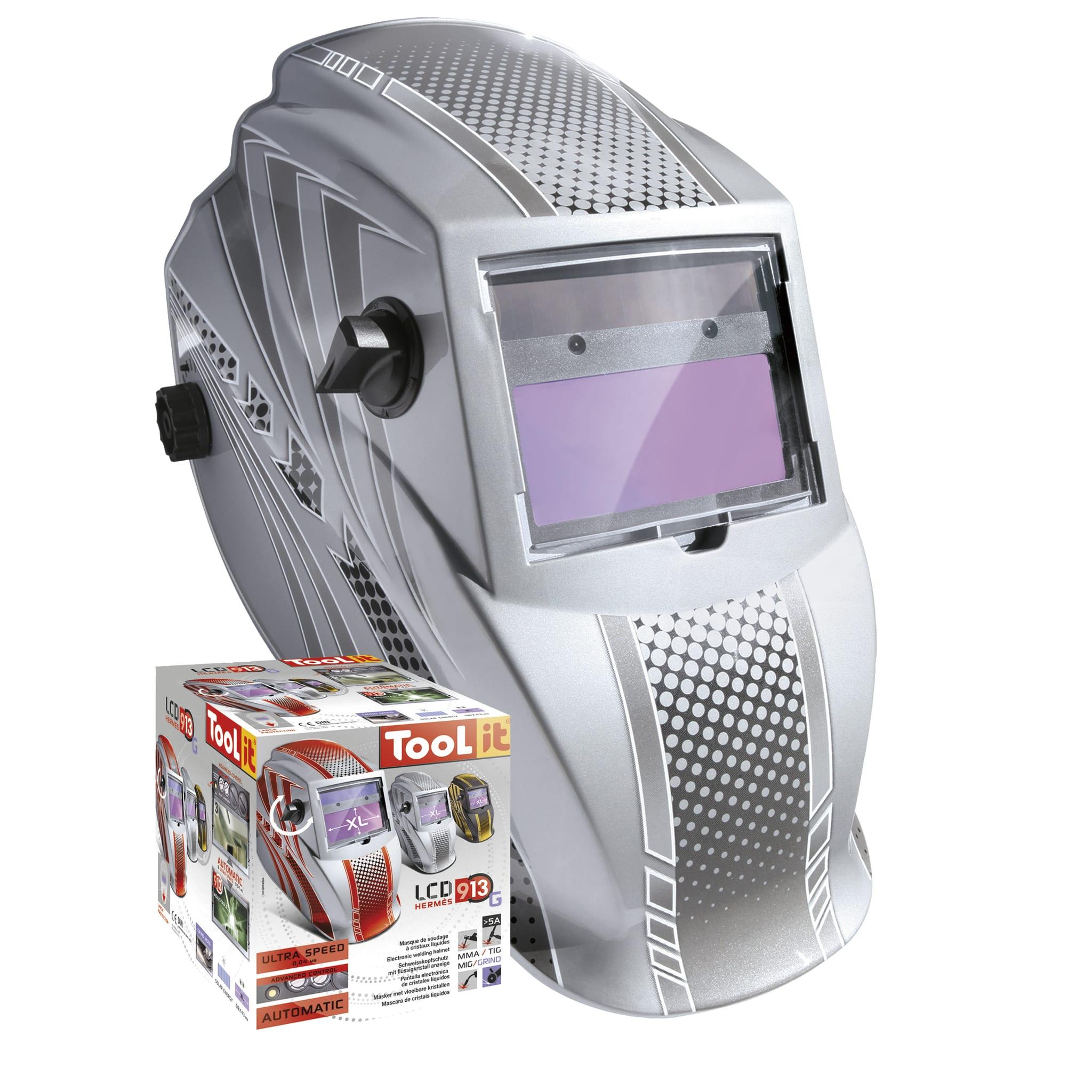 GYS LCD Hermes 9 13 G Silver Welding Helmet