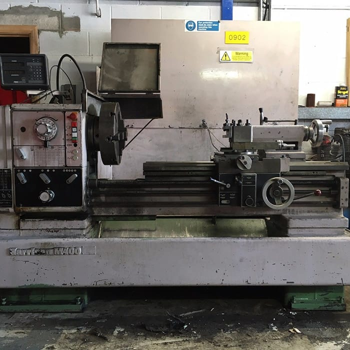 Harrison M400 Gap Bed Lathe