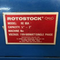 Rotostock RE80A 110v 600w Pipe Threader