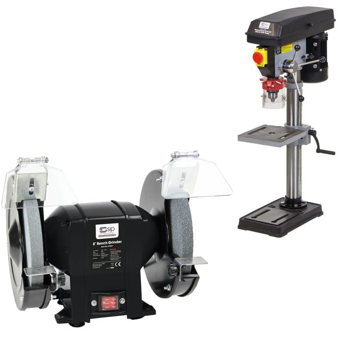SIP Bench Pillar Drill Package