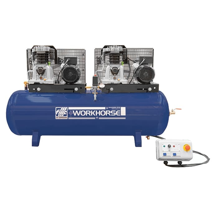 Fiac Workhorse WRT30-250S-1 240V Tandem Belt Driven Air Compressor