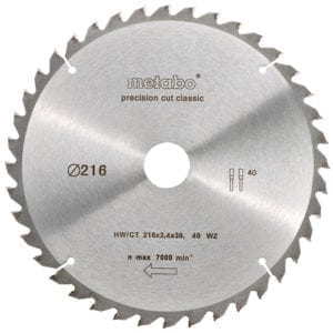 Metabo 216 x 30MM x 40T Circular Saw Blade