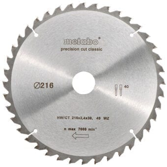 Metabo 216 x 30MM x 40T Circular Saw Blade